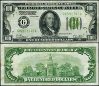 FR. 2151 G $100 1928-A Federal Reserve Note Chicago G-A Block XF LGS