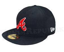 New Era 59FIFTY ATLANTA BRAVES Black Red White Cap MLB Baseball 5950 Fitted Hat