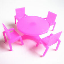 Plastic Kids Simulation Dollhouse Table Chair Sand Table Furniture For<w
