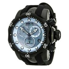 INVICTA RESERVE 52MM VENOM QUARTZ CHRONOGRAPH PLATNUM MOP BLACK BAND WATCH 80581