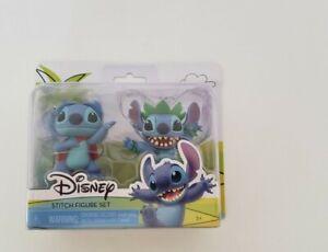 "Disney Lilo & Stitch 3"" Figure Set - Superhero Stitch & Hula Stitch NEW"