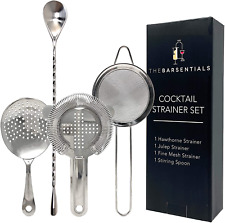 Cocktail Strainer Set Stainless Steel Bar Tool with Stirring Spoon Hawthorne `