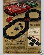 1963 PAPER AD 2 PG Eaton Toy Play Race Slot Car Track Sets Thunderjet 500 Model