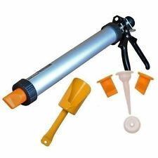 MORTAR AND GROUTING GUN SET FOR BRICK POINTING TILE CEMENT PROFESSIONAL METAL