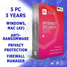 Avira Internet Security Suite 5 Geräte 3 Jahre 2020 VOLLVERSION / Win 10, Mac