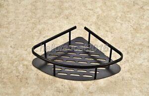 Oil Rubbed Brass Bathroom Shower Caddy Corner Wire Basket Storage Shelves Lba529