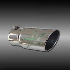 "4"" inlet 6"" outlet 12"" long Stainless Steel Rolled Angle Exhaust Tip"