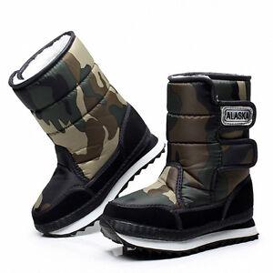 Unisex Women's Men Winter Warm Lining Snow Joggers waterproof Snow Boots