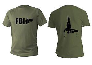 T Shirt Dri Fit Short Sleeve Green Olive Shirts Police Men FBI Man Military Usa
