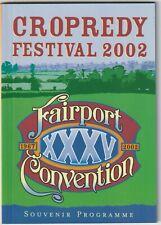 FAIRPORT CONVENTION CROPREDY FESTIVAL 2002 programme Oysterband Dubliners Bonham