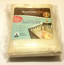 Breathable Baby Mesh Crib Liner Solid Cream Beige Ecru One Size Fits All - New!