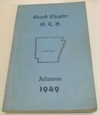 Grand Chapter O.E.S. Little Rock, Arkansas 1949 PB (SKU# 2429)