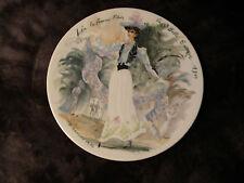 D'Arceau-Limoges Les Femmes Du Siecle-1900 La Belle Epoque Porcelain Plate