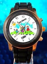Turn Your Kids Drawing Artwork Photo Custom Personalised Gift Black Wrist Watch