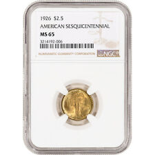 1926 US Gold $2.50 Sesquicentennial of American Independence - NGC MS65