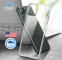 iPhone 11 Pro Max 7 8 Plus X XR XS Max Hybrid Shockproof Clear Soft Case Cover