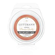 LUTTMANN® RED SECURITY TAPE – Zweithaar Klebeband 25 mm x 2,75 für Perücken