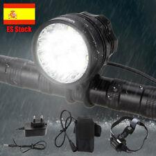 16x XML T6 LED 60000Lm Recargable Frontal Bicicleta Lampara Linterna Faro luz