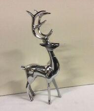 Neuer Designer Metall silber stehend RENTIER 43cm Weihnachten