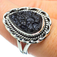 Tektite 925 Sterling Silver Ring Size 8.5 Ana Co Jewelry R31268F