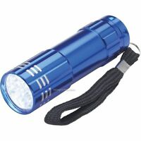 ULTRA BRIGHT 9 LED POWERFUL SMALL CAMPING TORCH FLASH LIGHT LAMP LIGHTS Random!