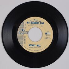 WENDY HILL: My Diamond Ring US Gary Lewis Answer DJ Promo Rock 45 MP3