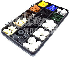 119 Assortiti Piccoli 6 G 8 G in plastica a cerniera a Vite Cover Caps segno Makers Auto KIT