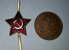 Soviet USSR Russian Red Army Military Ushanka Hat Cap Beret Metal Pin Badge k