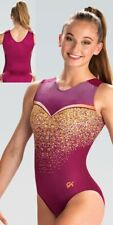 "Nwt E4056 Stunning! Gold Dust Gk â""¢ sublimated gymnastics leotard As"
