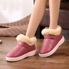Winter Womens Snow Boots High Top Thicken Warm Furry Cotton Shoes Nonslip Indoor