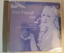 Vox Populi Live From The Seattle Poetry Festival Vol 1 CD On Audio CD Brand New