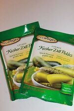 2 Pk Mrs. Wages Kosher Dill Pickle Seasoning Mix 6.5 oz all Natural, Canning