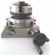 "Rotary Table Horizontal & Vertical 3""/75mm w/65mm Lathe Chuck for Milling Machin"
