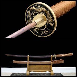 Battle Ready Folded Steel Katana Japanese Samurai Full-tang Sharp Sword Blade