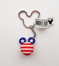 Disney - Patriotic Mickey Mouse Head Icon Ball - Flag - Keychain/Keyring 85559