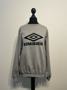 Vintage Retro 90s UMBRO Pro Training Sweatshirt Pullover Large Logo Size Medium