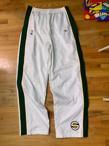 Reebok Throwback Seattle Supersonics Sonics Warmup Pants Tearaway Sweatpants 2XL