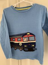 Mini Boden Boys Train Appliquelong Sleeve Shirt 3-4 Years