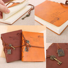 Vintage Classic Retro Journal Travel Leather Notepad Notebook Blank Diary Memo