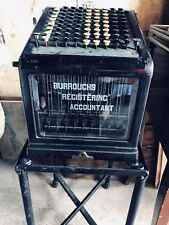 Rare Antique Burroughs Adding Machine Class 1 Model With Cast Iron Stand