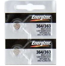 2 NEW ENERGIZER 364 363 SR621W SR621SW watch battery