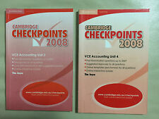 Cambridge Checkpoints VCE Accounting Units 3 & 4 2008 by Tim Joyce Study Guide