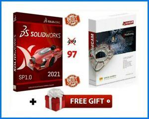 SOLIDWORKS PREMIUM 2021 SP1.0 ⭐ Lifetime ⭐+ SOLIDCAM 2020 SP3 HF3