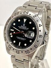 Rolex EXPLORER 2, modello 16570 GMT, quadrante nero, una serie 1999 Orologio Automatico