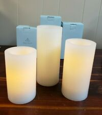 New ListingLot Of 3 PartyLite Light Illusion Ivory Led Pillar Candles Ld512, Ld612, Ld712