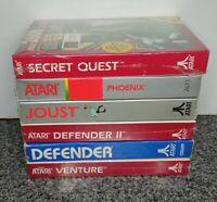 LOT OF 6 GAMES FOR ATARI 2600/5200/7800.  VINTAGE VERY RARE NOS . OPEN BOX