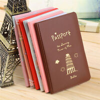 Travel Passport Holder Protect Cover Case Card Ticket Container Pouch Deco