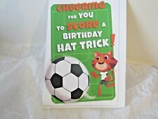 New ListingBirthday greeting card, cat playing basketball, verse inside, envelope included.
