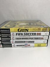 5 Sony PS2 Games FIFA Soccer Gun Tiger Woods Madden 05/08