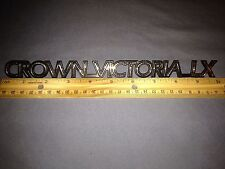 Vintage Crown Victoria LX Chrome Nameplate/Emblem - Chrome/Black - Near Mint